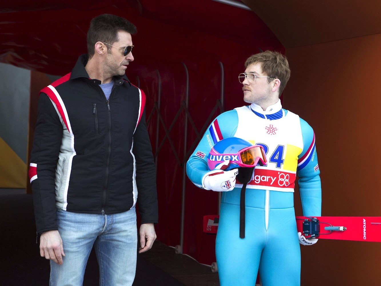 Hugh Jackman & Taron Egerton - Eddie The Eagle (2016)